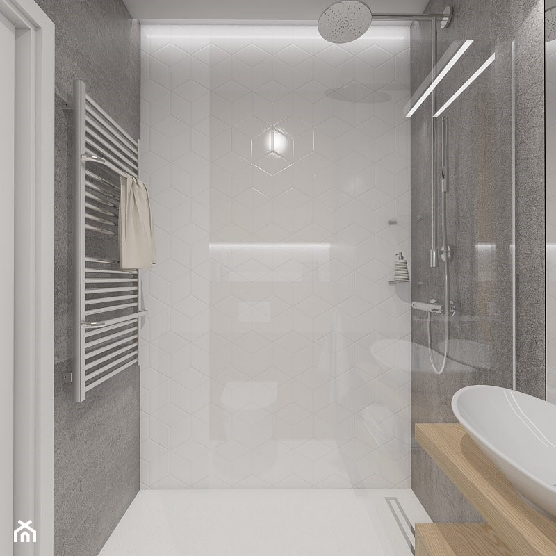 Sypialnia W Salonie Mała Szara łazienka W Bloku W Domu