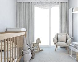 WŚRÓD ZWIERZĄT - Mały szary pokój dziecka dla chłopca dla dziewczynki dla niemowlaka, styl nowoczesny - zdjęcie od UTOO- pracownia architektury wnętrz i krajobrazu