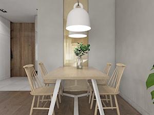 TROCHĘ SŁOŃCA - Średnia biała jadalnia, styl nowoczesny - zdjęcie od UTOO- pracownia architektury wnętrz i krajobrazu