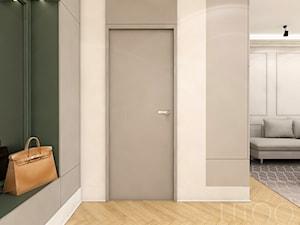 KLASYCZNA INSPIRACJA - Mały biały szary hol / przedpokój, styl nowoczesny - zdjęcie od UTOO- pracownia architektury wnętrz i krajobrazu