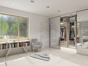 NOWOCZESNY VINTAGE - Średnia zamknięta garderoba przy sypialni, styl vintage - zdjęcie od UTOO- pracownia architektury wnętrz i krajobrazu
