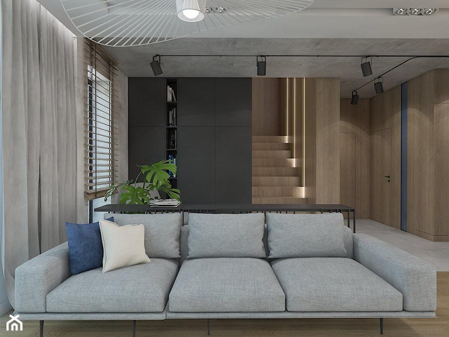PRZESTRZEŃ PRYWATNA - Mały szary salon, styl nowoczesny - zdjęcie od UTOO- pracownia architektury wnętrz i krajobrazu