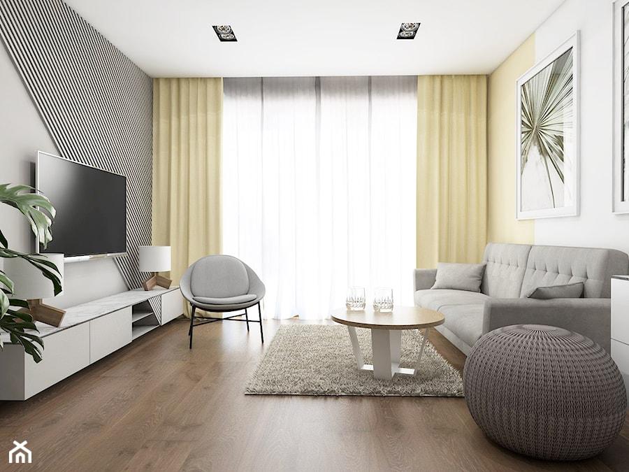 TROCHĘ SŁOŃCA - Średni szary salon, styl nowoczesny - zdjęcie od UTOO- pracownia architektury wnętrz i krajobrazu