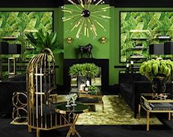 EICHHOLTZ - ARANŻACJE - Średni duży zielony salon, styl eklektyczny - zdjęcie od Galeria Heban- ekskluzywne meble - Homebook