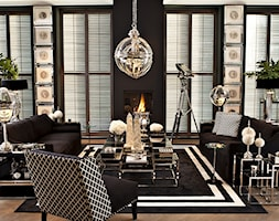 EICHHOLTZ - ARANŻACJE - Duży czarny salon, styl art deco - zdjęcie od Galeria Heban- ekskluzywne meble - Homebook