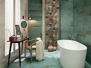 Ściana niczym orientalna tkanina – stwórz wielobarwną łazienkę z duszą