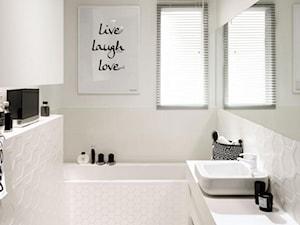 Elegancka łazienka w bieli i czerni