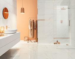 Nowe kolekcje - Średnia szara łazienka w bloku w domu jednorodzinnym bez okna - zdjęcie od TUBĄDZIN