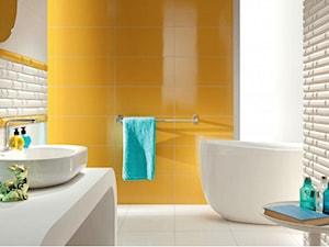 Efektowna aranżacja łazienki w monochromatycznych barwach