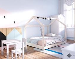 pokój dziecięcy - Średni szary pokój dziecka dla chłopca dla dziewczynki dla malucha, styl skandynawski - zdjęcie od JUSSS