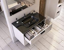 Inge - Mała biała łazienka na poddaszu w bloku w domu jednorodzinnym bez okna, styl skandynawski - zdjęcie od Elita - Homebook