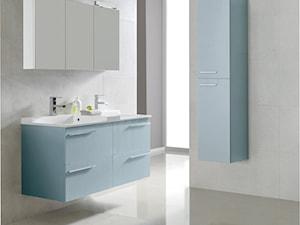 Marsylia - Średnia biała łazienka na poddaszu w bloku w domu jednorodzinnym bez okna, styl minimalistyczny - zdjęcie od Elita