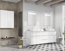 Lofty - Mała biała łazienka na poddaszu w bloku w domu jednorodzinnym z oknem, styl eklektyczny - zdjęcie od Elita - Homebook