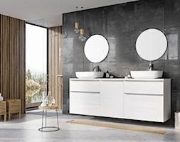 Lofty - Średnia czarna szara łazienka w bloku w domu jednorodzinnym z oknem, styl nowoczesny - zdjęcie od Elita - Homebook