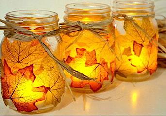 Jak zrobić świecznik oraz miskę z jesiennych liści? DIY