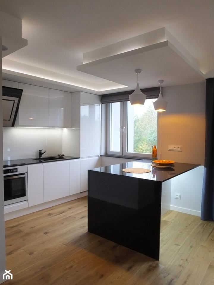 Mieszkanie 40m2 - Kuchnia, styl nowoczesny - zdjęcie od MASTERHOME GROUP