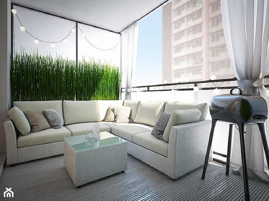 Męski apartament - Średni taras z tyłu domu, styl nowoczesny - zdjęcie od MASTERHOME GROUP