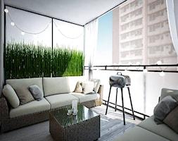 Męski apartament - Duży taras z tyłu domu, styl nowoczesny - zdjęcie od MASTERHOME GROUP