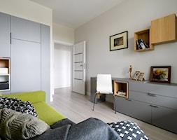 Słodowiec 3 pokoje - Średnie białe biuro domowe kącik do pracy w pokoju, styl nowoczesny - zdjęcie od Inside Story