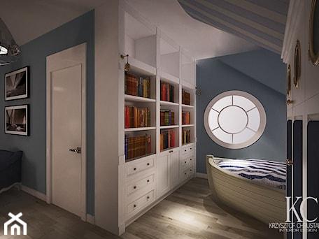 Aranżacje wnętrz - Pokój dziecka: Pokój Marynarski - Średni niebieski pokój dziecka dla chłopca dla nastolatka, styl glamour - KCDESIGN. Przeglądaj, dodawaj i zapisuj najlepsze zdjęcia, pomysły i inspiracje designerskie. W bazie mamy już prawie milion fotografii!