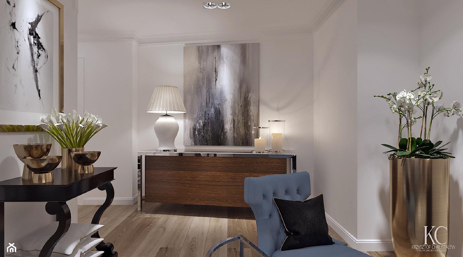 Oxygen Warszawa - Biały salon, styl klasyczny - zdjęcie od KCDESIGN - Homebook