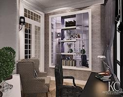 Mokotowska 8 Gabinet - Małe szare biuro domowe w pokoju, styl klasyczny - zdjęcie od KCDESIGN