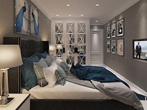 Oxygen Warszawa - Średnia szara sypialnia małżeńska, styl klasyczny - zdjęcie od KCDESIGN
