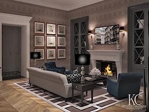 Mokotowska 8 Salon - Mały brązowy salon, styl klasyczny - zdjęcie od KCDESIGN