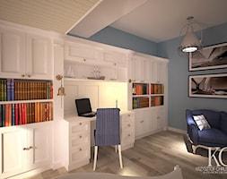 Pokój Marynarski - Duży niebieski pokój dziecka dla chłopca dla dziewczynki dla ucznia dla nastolatka, styl glamour - zdjęcie od KCDESIGN