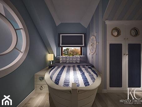 Aranżacje wnętrz - Pokój dziecka: Pokój Marynarski - Średni biały niebieski pokój dziecka dla chłopca dla dziewczynki dla malucha dla nastolatka, styl glamour - KCDESIGN. Przeglądaj, dodawaj i zapisuj najlepsze zdjęcia, pomysły i inspiracje designerskie. W bazie mamy już prawie milion fotografii!