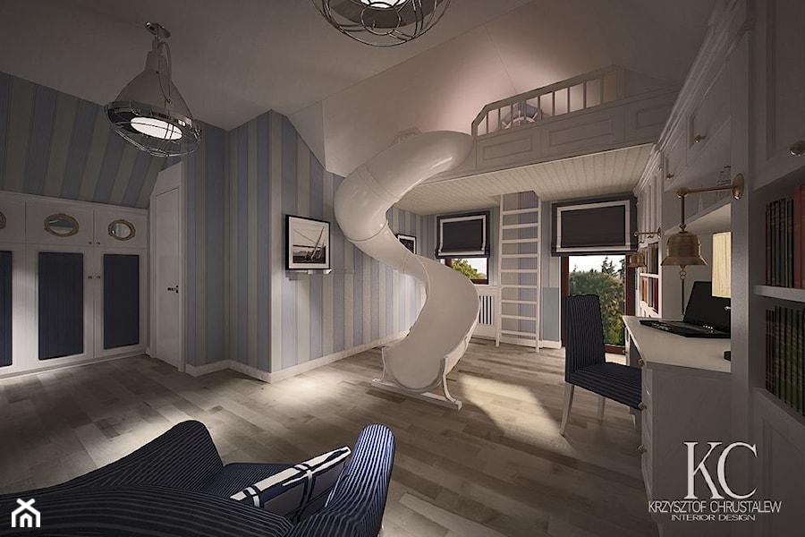 Pokój Marynarski - Duży pokój dziecka dla chłopca dla malucha, styl glamour - zdjęcie od KCDESIGN