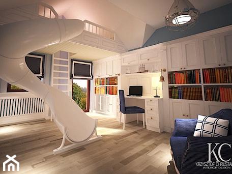 Aranżacje wnętrz - Pokój dziecka: Pokój Marynarski - Duży biały niebieski pokój dziecka dla chłopca dla malucha, styl glamour - KCDESIGN. Przeglądaj, dodawaj i zapisuj najlepsze zdjęcia, pomysły i inspiracje designerskie. W bazie mamy już prawie milion fotografii!