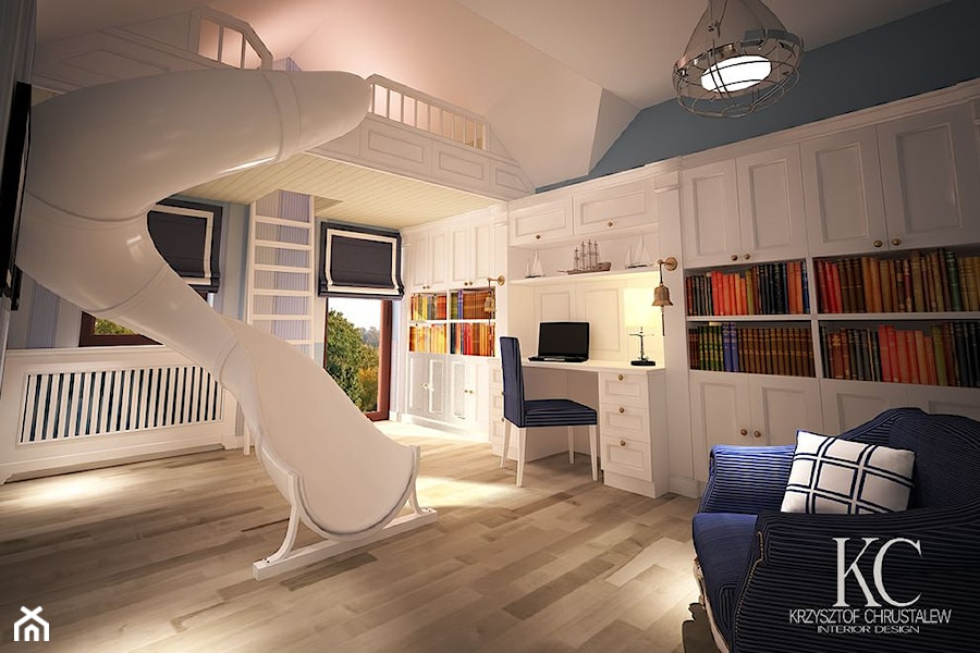 pok j marynarski du y bia y niebieski pok j dziecka dla ch opca dla malucha styl glamour. Black Bedroom Furniture Sets. Home Design Ideas