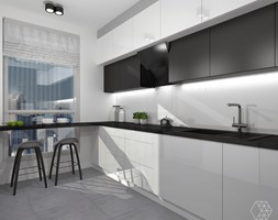 Bia%C5%82o-czarna+kuchnia+w+Warszawie+-+zdj%C4%99cie+od+DIZU+Studio+Projektowe