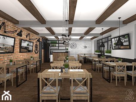 Aranżacje wnętrz - Wnętrza publiczne: Pizzeria/restauracja w Czańcu - wersja alternatywna - DIZU Studio Projektowe. Przeglądaj, dodawaj i zapisuj najlepsze zdjęcia, pomysły i inspiracje designerskie. W bazie mamy już prawie milion fotografii!