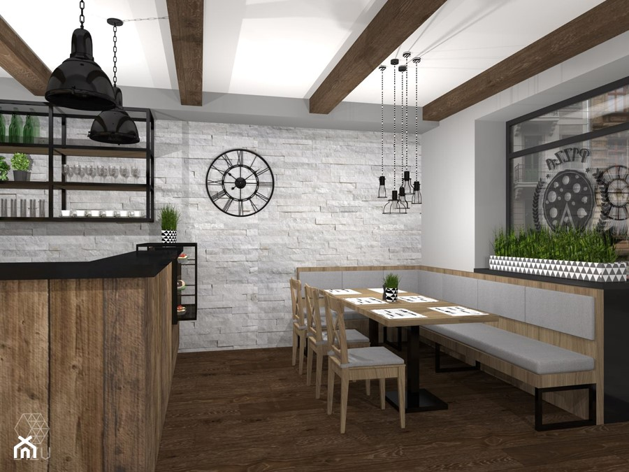 Pizzeria/restauracja w Czańcu - wersja alternatywna - zdjęcie od DIZU Studio Projektowe