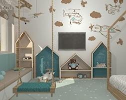 Pastelowy pokój małego Krzysia - zdjęcie od DIZU Studio Projektowe