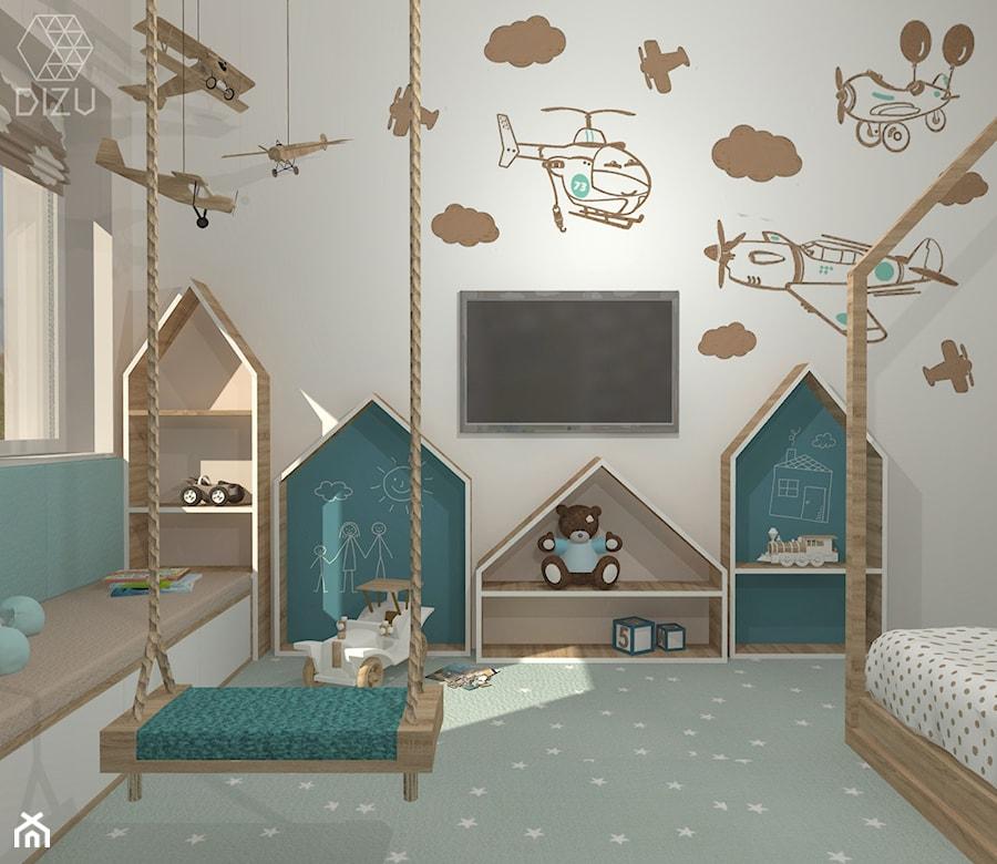 Aranżacje wnętrz - Pokój dziecka: Pastelowy pokój małego Krzysia - DIZU Studio Projektowe. Przeglądaj, dodawaj i zapisuj najlepsze zdjęcia, pomysły i inspiracje designerskie. W bazie mamy już prawie milion fotografii!