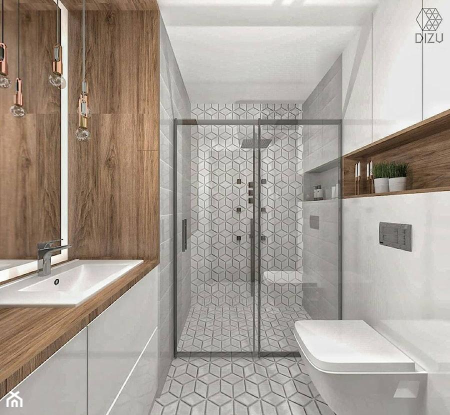 łazienka Z Mozaiką W Kształcie Rombów Bielsko Biała