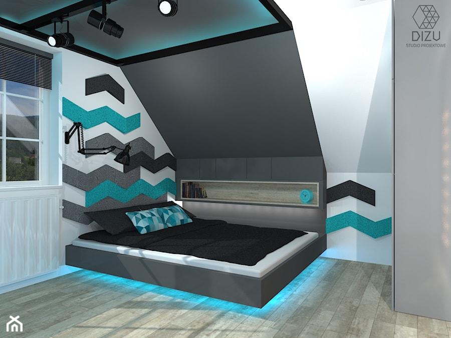 Młodzieżowa sypialnia. - zdjęcie od DIZU Studio Projektowe
