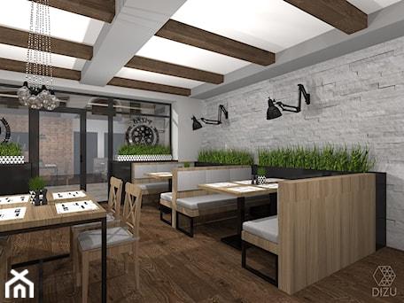 Aranżacje wnętrz - Schody: Pizzeria/restauracja w Czańcu - wersja alternatywna - DIZU Studio Projektowe. Przeglądaj, dodawaj i zapisuj najlepsze zdjęcia, pomysły i inspiracje designerskie. W bazie mamy już prawie milion fotografii!