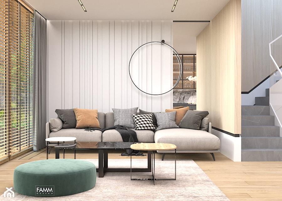 KONSTANCIN - Salon, styl nowoczesny - zdjęcie od FAMM DESIGN