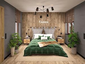 LOFT LOVE - Mała średnia szara sypialnia małżeńska, styl eklektyczny - zdjęcie od FAMM DESIGN