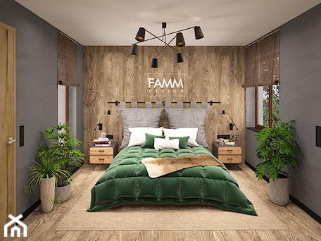 Aranżacje wnętrz - Sypialnia: LOFT LOVE - Mała średnia szara sypialnia małżeńska, styl eklektyczny - FAMM DESIGN. Przeglądaj, dodawaj i zapisuj najlepsze zdjęcia, pomysły i inspiracje designerskie. W bazie mamy już prawie milion fotografii!
