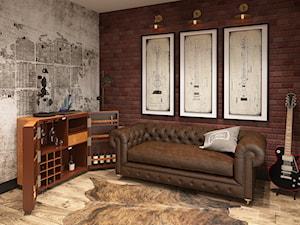 INSPIRACJE KOLONIALNE - Średnie biuro pracownia w pokoju, styl nowoczesny - zdjęcie od FAMM DESIGN