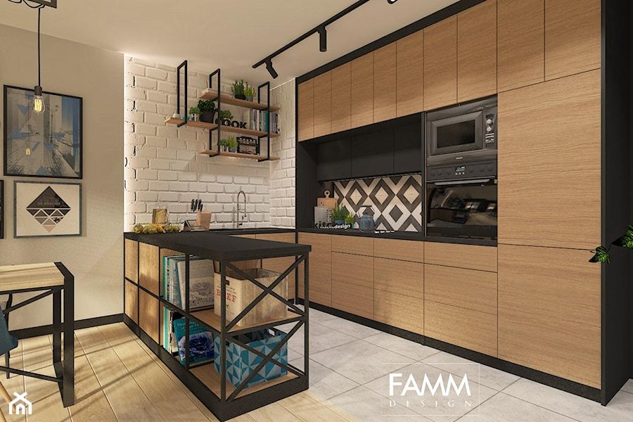 Industrial na mokotowie rednia otwarta kuchnia w for Lada 09 salon