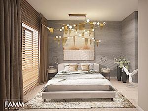 SZCZECIN POD WYNAJEM - Średnia szara sypialnia dla gości, styl nowoczesny - zdjęcie od FAMM DESIGN