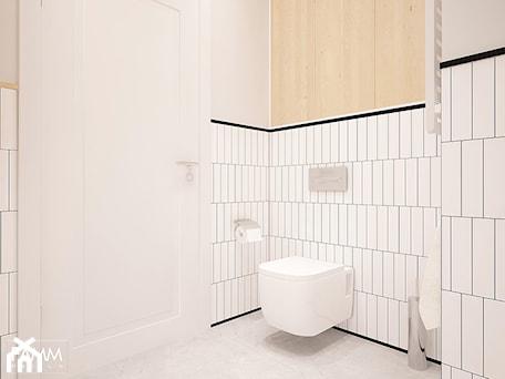 Aranżacje wnętrz - Łazienka: POD WYNAJEM - Mała biała łazienka w bloku w domu jednorodzinnym bez okna, styl minimalistyczny - FAMM DESIGN. Przeglądaj, dodawaj i zapisuj najlepsze zdjęcia, pomysły i inspiracje designerskie. W bazie mamy już prawie milion fotografii!