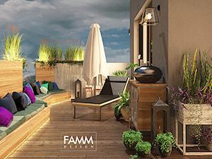 LOFT LOVE - Duży taras z tyłu domu, styl industrialny - zdjęcie od FAMM DESIGN