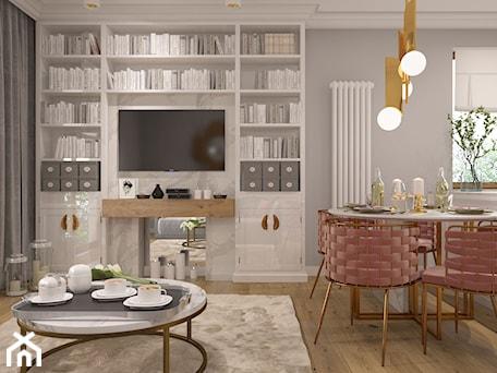 Aranżacje wnętrz - Jadalnia: Salon z aneksem kuchennym i jadalnią - FAMM DESIGN. Przeglądaj, dodawaj i zapisuj najlepsze zdjęcia, pomysły i inspiracje designerskie. W bazie mamy już prawie milion fotografii!